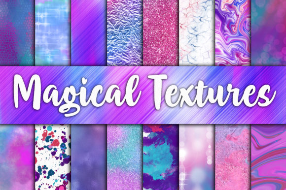 Magical Textures Digital Papers Graphic By oldmarketdesigns Image 1