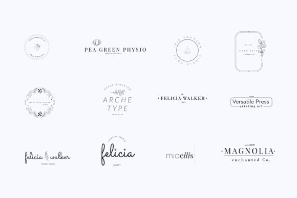 Print on Demand: Magnolia Pre-made Logo Set of 24 Logos Graphic Logos By Primafox Design - Image 8