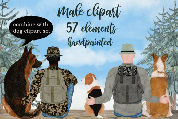 Male Clipart Graphic Illustrations By LeCoqDesign - Image 1