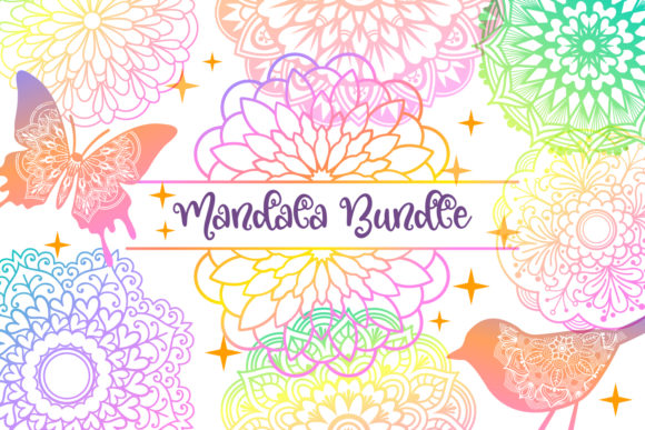 Print on Demand: Mandala Bundle- 40 Cut Files Graphic Crafts By tatiana.cociorva - Image 4