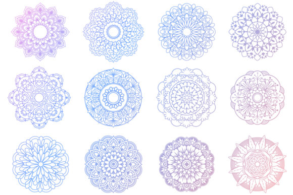 Print on Demand: Mandala Bundle- 40 Cut Files Graphic Crafts By tatiana.cociorva - Image 5