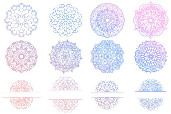 Print on Demand: Mandala Bundle- 40 Cut Files Graphic Crafts By tatiana.cociorva - Image 6