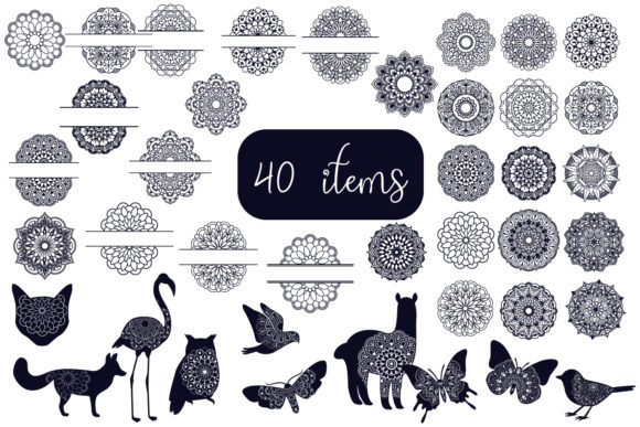 Print on Demand: Mandala Bundle- 40 Cut Files Graphic Crafts By tatiana.cociorva - Image 9