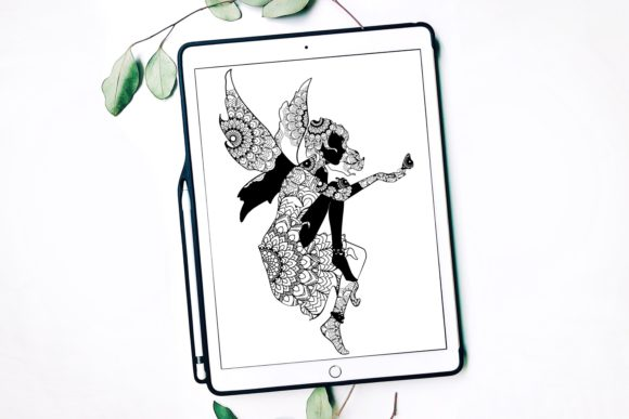 Mandala Fairy Graphic Print Templates By Fortuna Prints