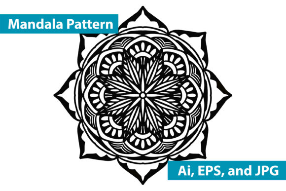 Print on Demand: Mandala Vector Art Pattern Graphic Crafts By redsugardesign