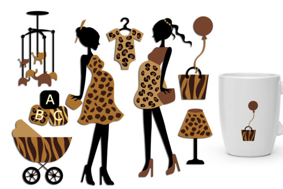 Print on Demand: Maternity Safari Prints Graphic Illustrations By Revidevi