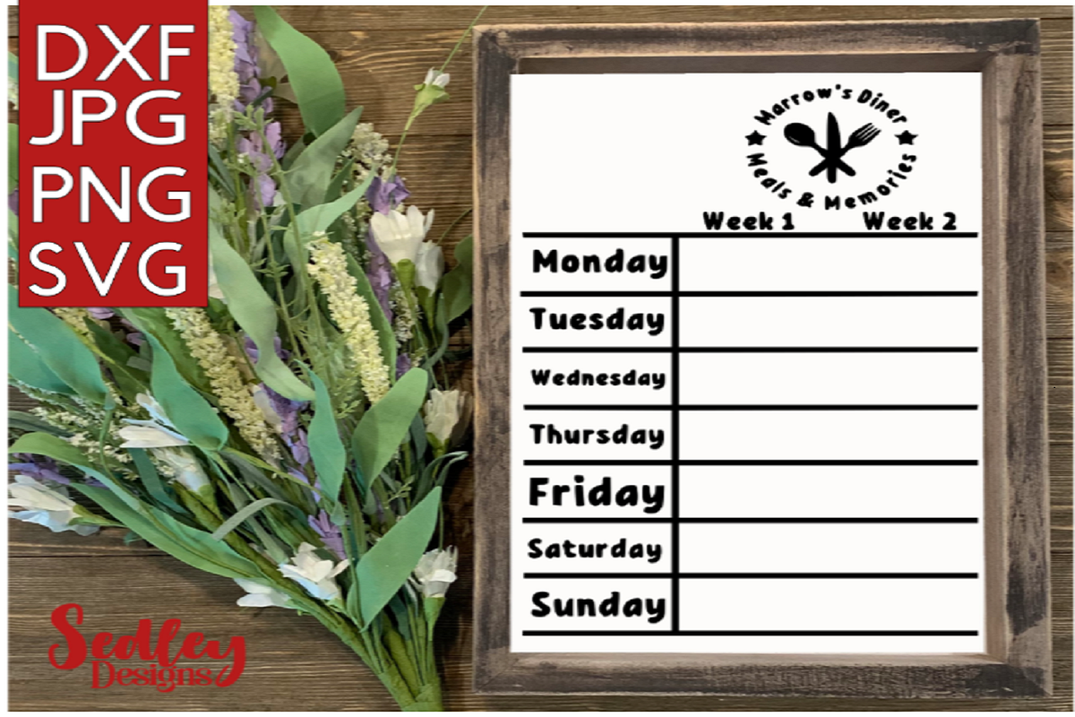 Download Free Meals And Memories Board Grafik Von Sedley Designs Creative for Cricut Explore, Silhouette and other cutting machines.
