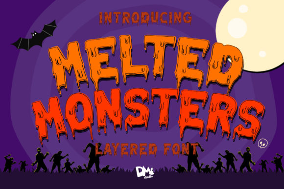 Print on Demand: Melted Monster Display Font By dmletter31