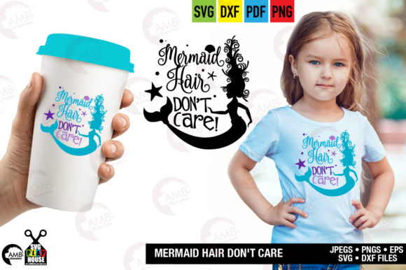 Download Free Mermaid Hair Don T Care Graphic By Ambillustrations Creative for Cricut Explore, Silhouette and other cutting machines.