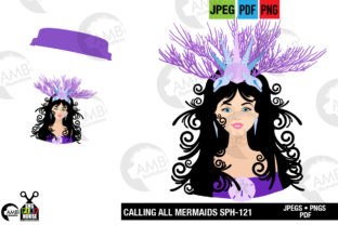 Mermaid Princess Clipart Graphic By AMBillustrations
