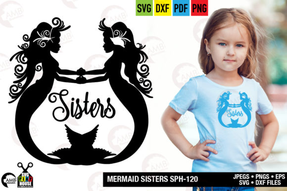Mermaid Sisters Graphic Crafts By AMBillustrations