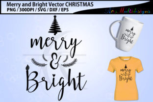 Download Free Merry And Bright Svg Cutting Files Graphic By Arcs Multidesigns for Cricut Explore, Silhouette and other cutting machines.