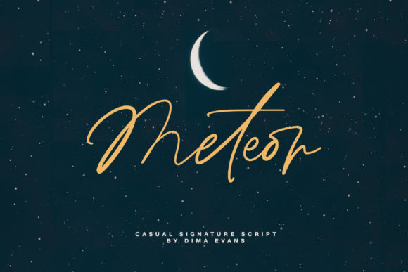 Print on Demand: Meteor Script Script & Handwritten Font By Dmitrii Chirkov