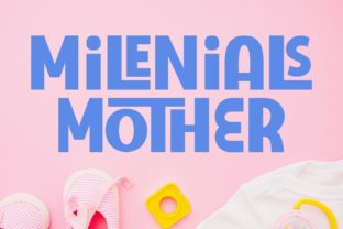 Milenials Mother Font By Keithzo (7NTypes)