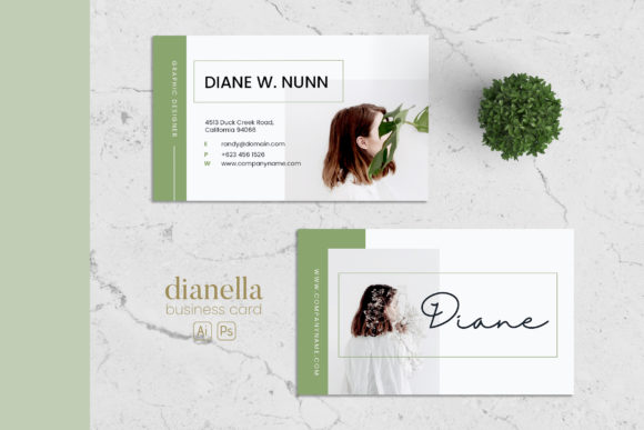 Minimalist Business Card AI and PSD 1 Graphic Print Templates By alexacrib83