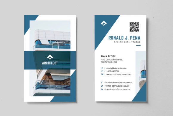 Minimalist Business Card AI and PSD 5 Graphic Print Templates By alexacrib83