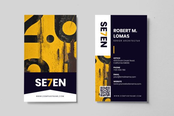 Minimalist Business Card AI and PSD 6 Graphic Print Templates By alexacrib83