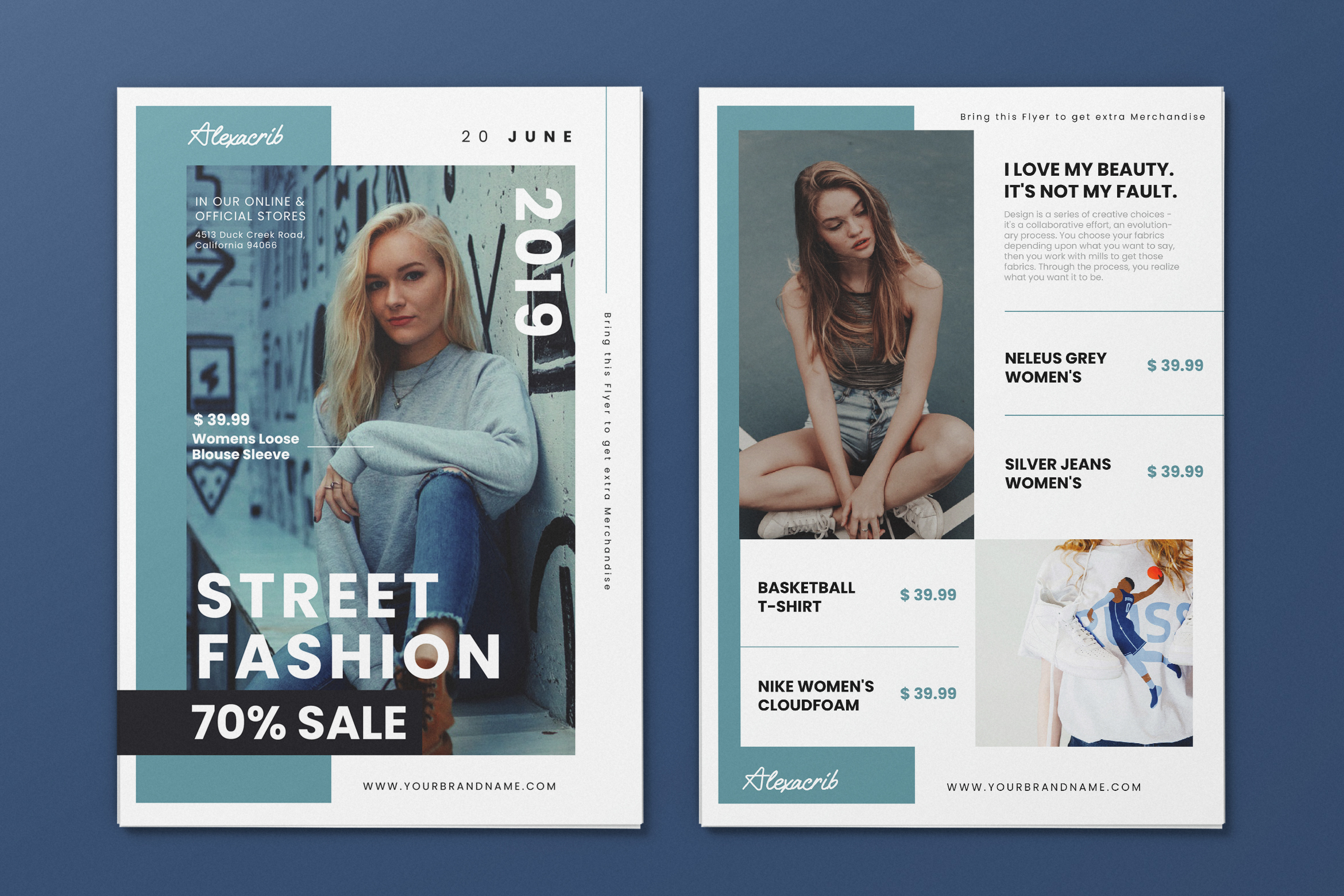 Download Free Minimalist Fashion Ai And Psd Flyer 1 Graphic By Alexacrib83 for Cricut Explore, Silhouette and other cutting machines.
