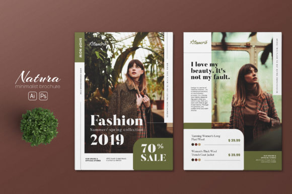 Download Free Minimalist Fashion Ai And Psd Flyer 2 Graphic By Alexacrib83 for Cricut Explore, Silhouette and other cutting machines.