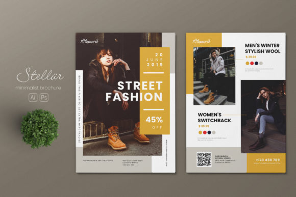 Download Free Minimalist Fashion Ai And Psd Flyer 4 Graphic By Alexacrib83 SVG Cut Files