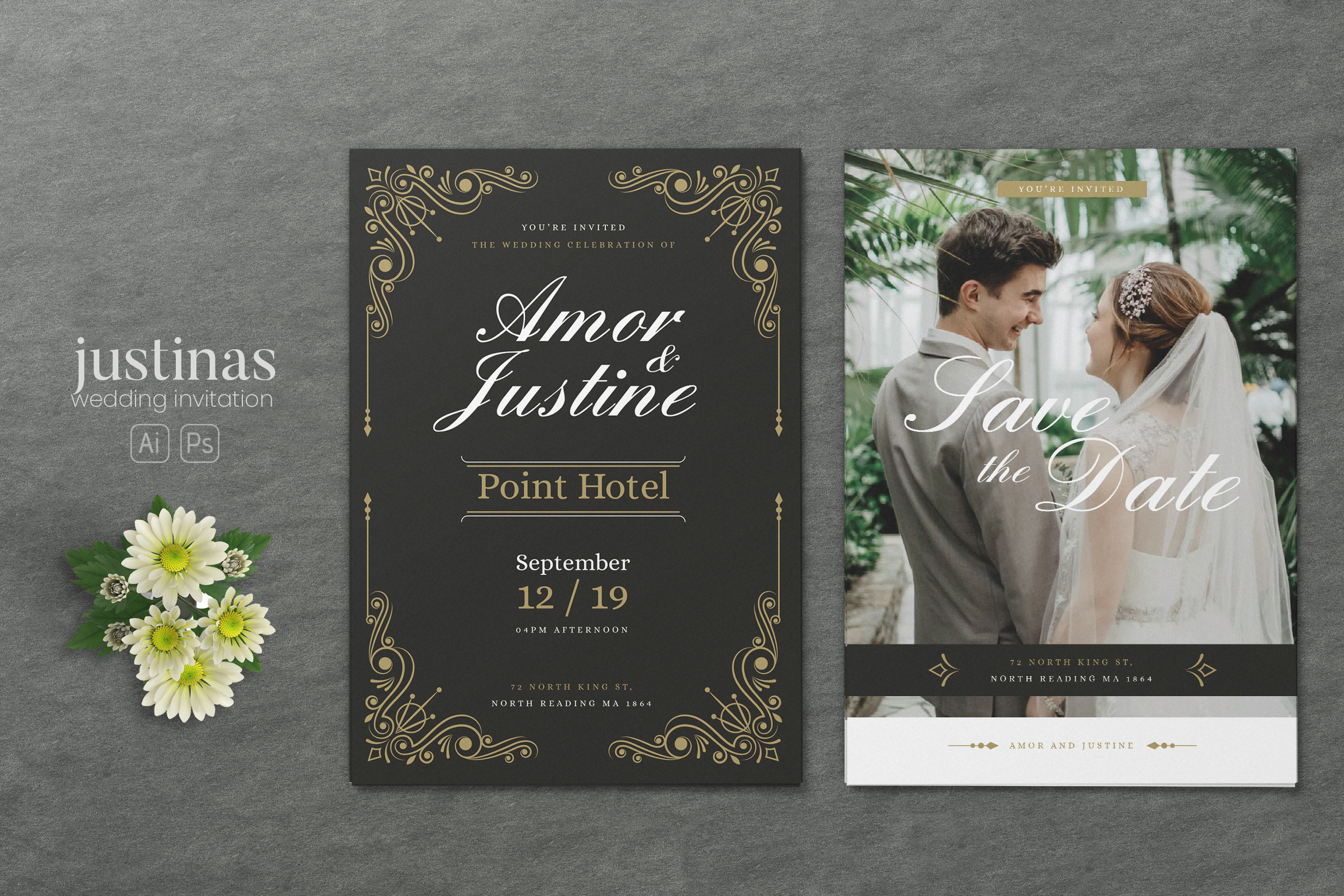 Download Free Minimalist Wedding Ai And Psd Invitation Graphic By Alexacrib83 for Cricut Explore, Silhouette and other cutting machines.