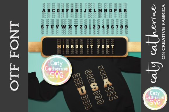 Print on Demand: Mirror It Display Font By Caty Catherine