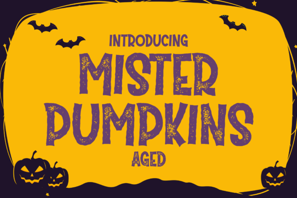 Print on Demand: Mister Pumpkins Aged Display Font By fadhil figuree