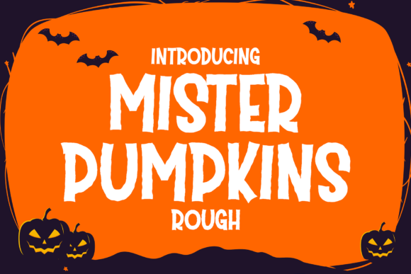 Print on Demand: Mister Pumpkins Rough Display Font By fadhil figuree - Image 1