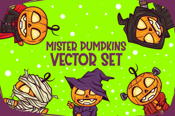 Print on Demand: Mister Pumpkins Vector Graphic Illustrations By fadhil figuree