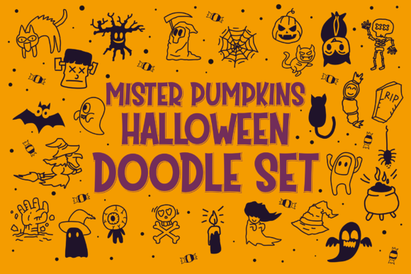 Print on Demand: Mister Pumpkins Dingbats Font By fadhil figuree