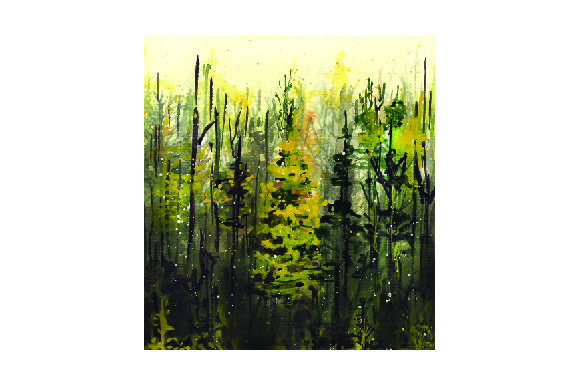 Misty Forest in Watercolor Nature & Outdoors Craft Cut File By Creative Fabrica Crafts - Image 1