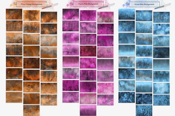 Monochromatic Watercolor Backgrounds Graphic By NassyArt Image 2