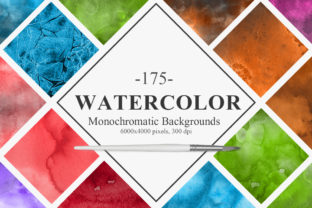 Monochromatic Watercolor Backgrounds Graphic By NassyArt