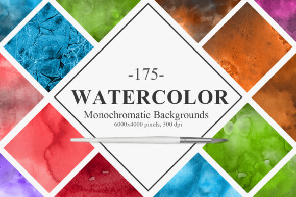 Monochromatic Watercolor Backgrounds Graphic Backgrounds By NassyArt
