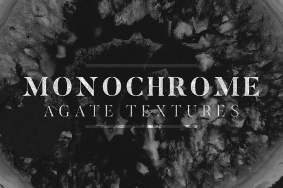 Print on Demand: Monochrome Agate Textures Graphic Textures By freezerondigital