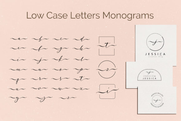 Print on Demand: Monogram Lowcase Calligraphic Letters Graphic Illustrations By Primafox Design