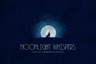Moonlight Whispers Font By RainbowGraphicx