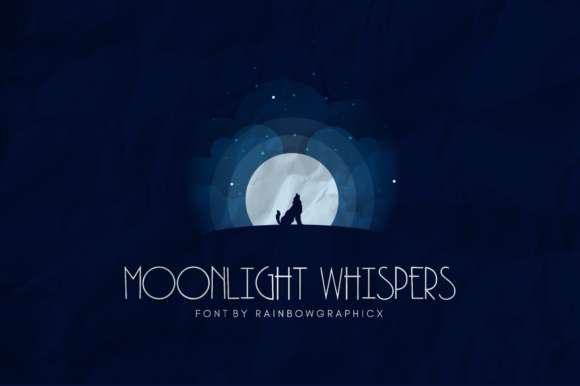 Print on Demand: Moonlight Whispers Script & Handwritten Font By RainbowGraphicx