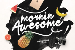 Print on Demand: Mornin Awesome Script & Handwritten Font By Maulana Creative