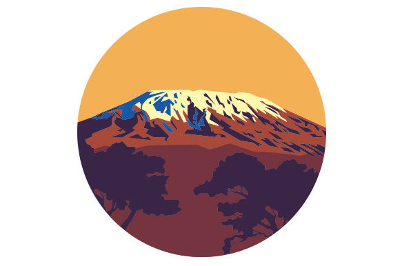 Download Free Mount Kilimanjaro Svg Cut File By Creative Fabrica Crafts for Cricut Explore, Silhouette and other cutting machines.