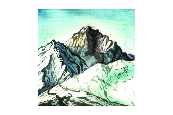Mountains in Watercolor Nature & Outdoors Craft Cut File By Creative Fabrica Crafts