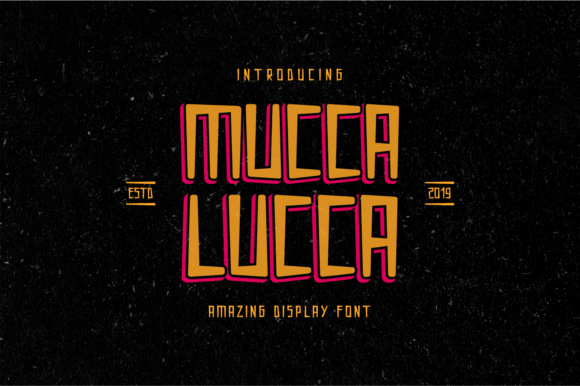 Print on Demand: Mucca Lucca Display Font By MENK Studio - Image 1
