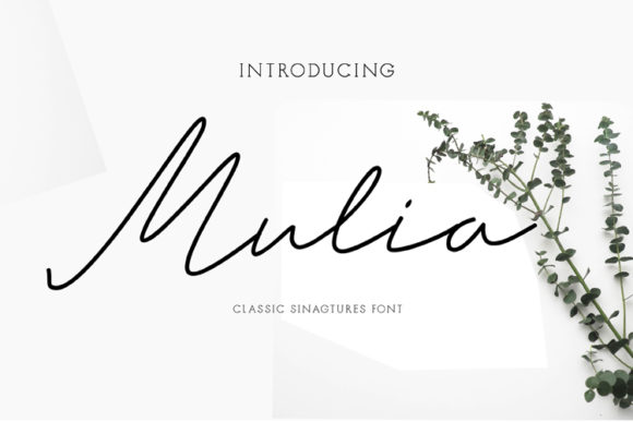 Print on Demand: Mulia Script & Handwritten Font By ed.creative