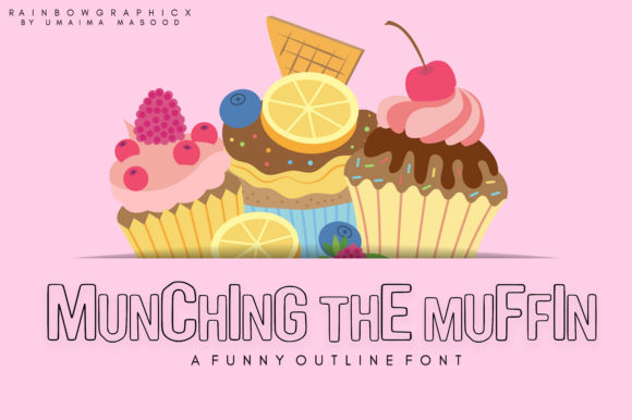 Print on Demand: Munching the Muffin Sans Serif Font By RainbowGraphicx  - Image 1
