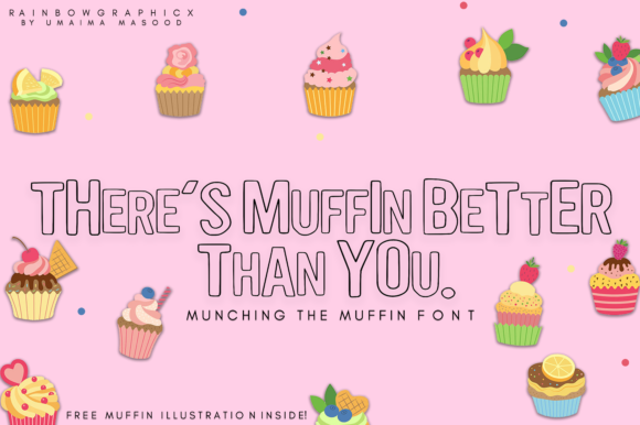 Download Free Munching The Muffin Font By Rainbowgraphicx Creative Fabrica for Cricut Explore, Silhouette and other cutting machines.
