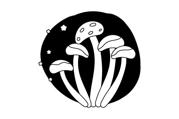 Mushrooms Abstract Style