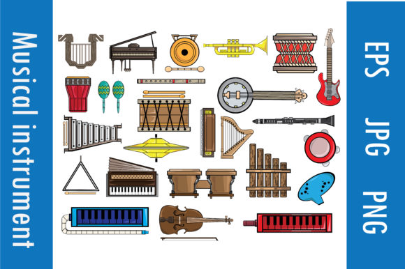 Musical Instruments Full Pack Graphic Illustrations By RFG