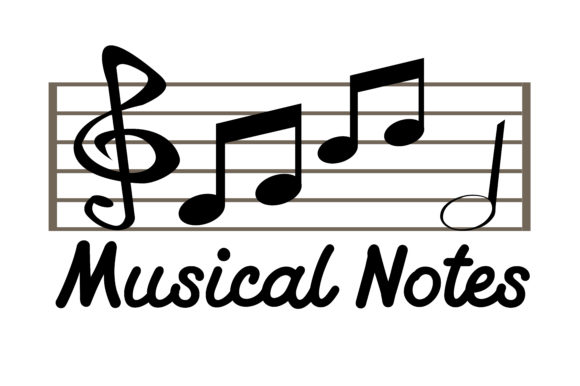 Musical Notes Graphic Crafts By RFG