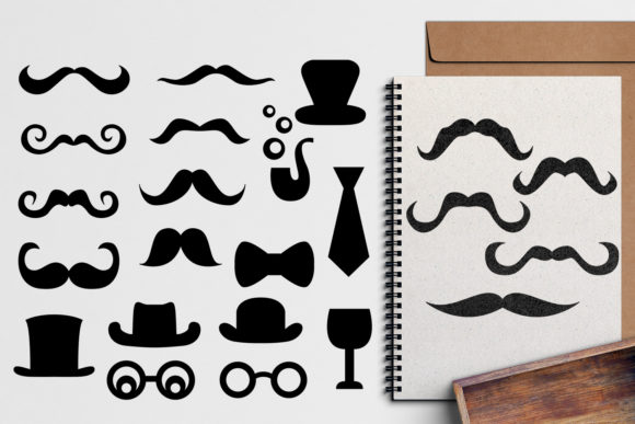 Print on Demand: Mustache Graphic Illustrations By Revidevi