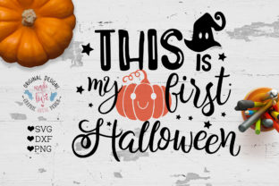 Download Free My First Halloween Graphic By Graphichousedesign Creative Fabrica for Cricut Explore, Silhouette and other cutting machines.
